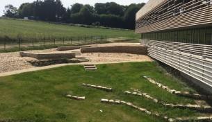 aménagements extérieurs du nouveau collège elven (56) mandataire : robert et sur architectes livré 2018
