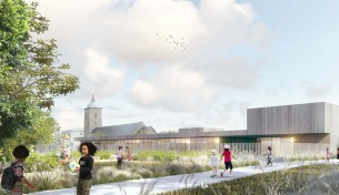 cour d'école et espaces extérieurs granville (50) mandataire : DDL architectes concours lauréat 2017