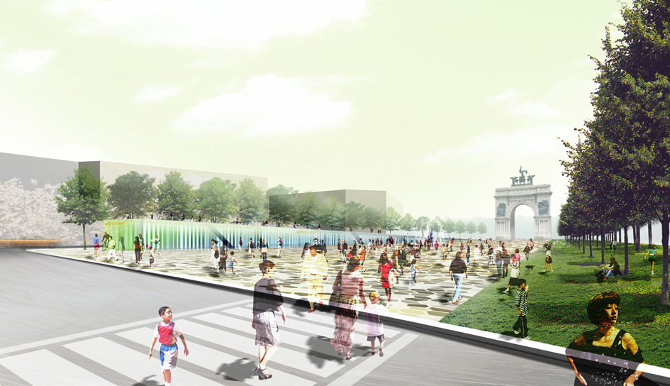 La Plage architecture et paysage_Reinventing Grand Army Plaza (9) copie