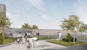 aménagements des cours et du parvis molac (56) mandataire : Atelier 56s chantier 2019